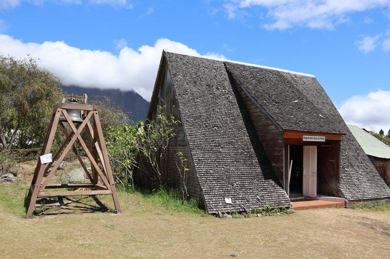 Church exterior - La Nouvelle - - cirque de Mafate - Reunion Island