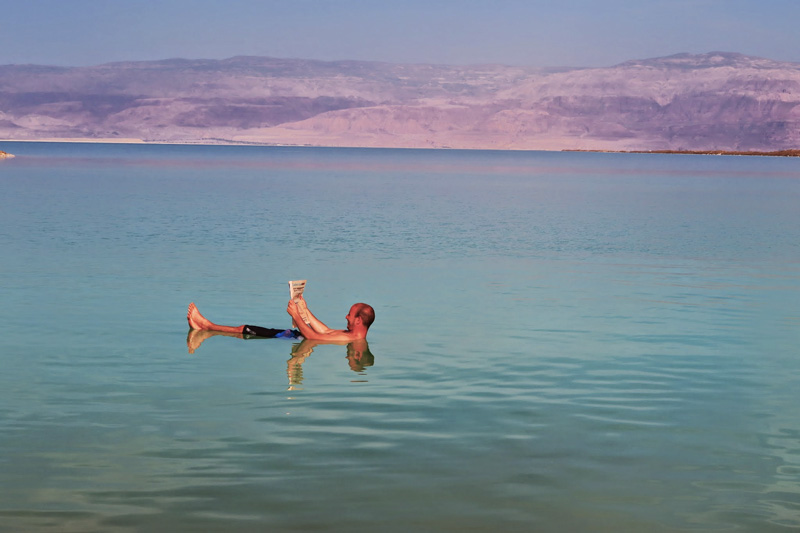 Floating in the Dead Sea - israel