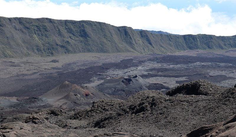 Hike to Dolomieu Crater - Piton de la Fournaise - Reunion Island - outer crater