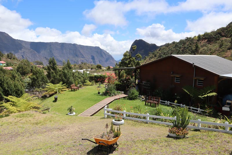 House and view of La Nouvelle -- cirque de Mafate - Reunion Island