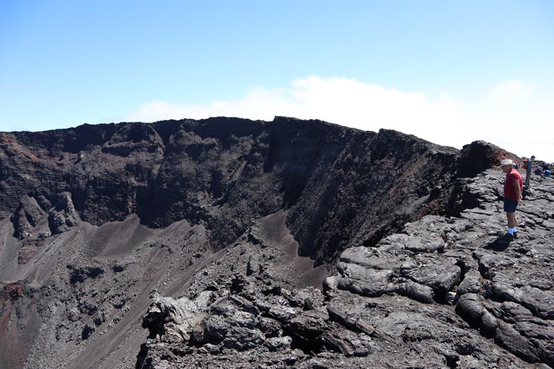 Looking into Dolomieu Crater - Piton de la Fournaise - Reunion Island hike