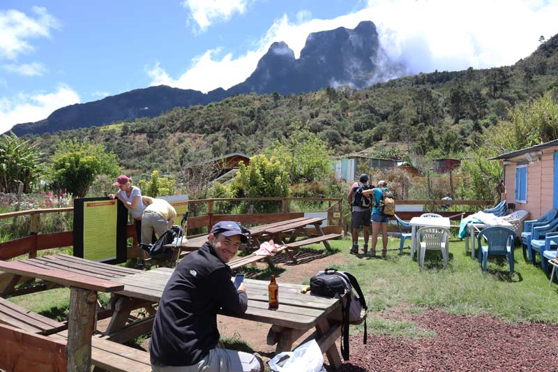 Lunch in La Nouvelle - cirque de Mafate - Reunion Island