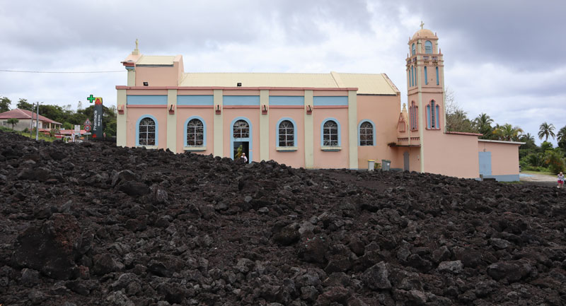 Notre Dame des Laves - miracle church - Reunion Island