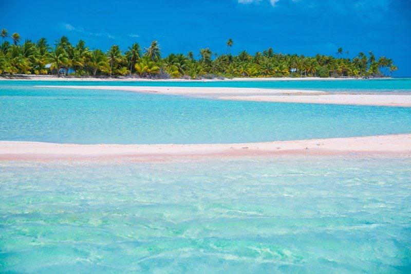 Pink Sand Beach French Polynesia - Lei Tao