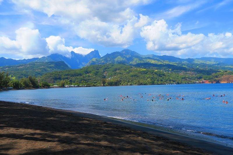 Pointe Venus Beach - Tahiti- black sand beach - French Polynesia
