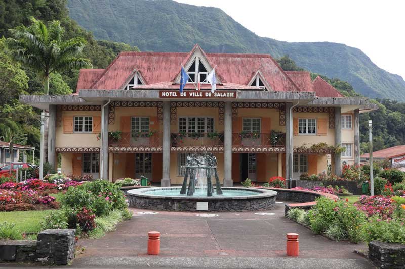 Salazie town hall - Reunion Island