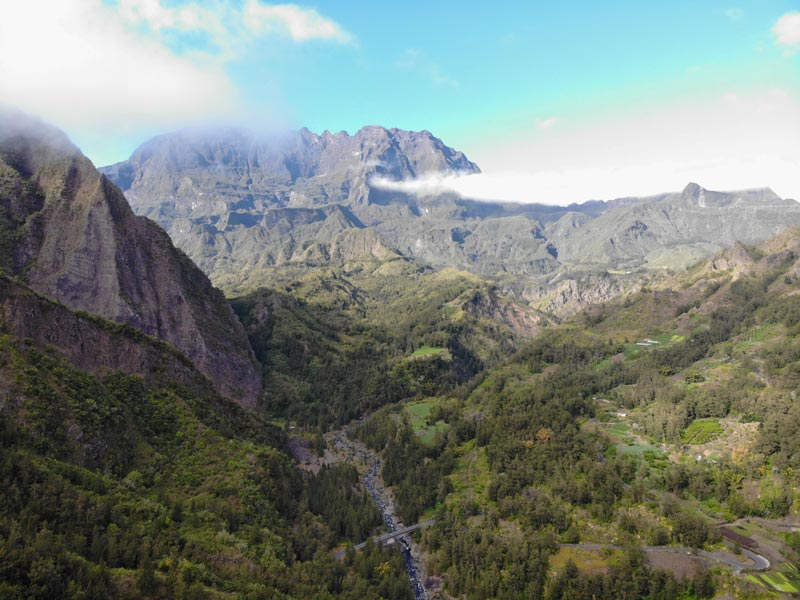 Scenic Drive to Grand Ilet - Cirques de Salazie - Reunion Island