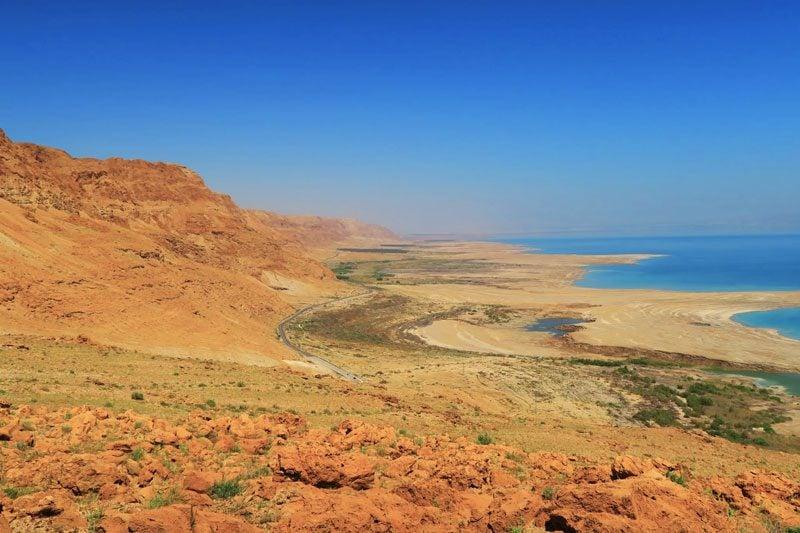 Scenic drive from Jerusalem to Dead Sea - Israel