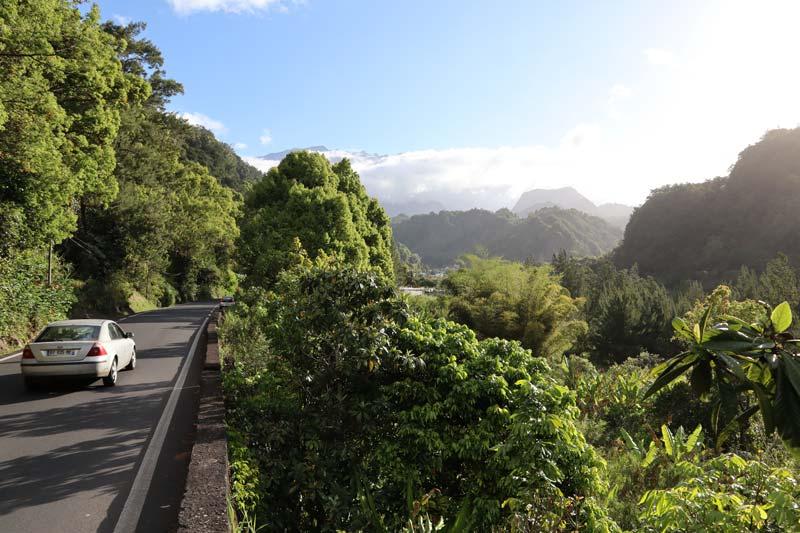 Scenic drive into Cirque de Salazie - Reunion Island