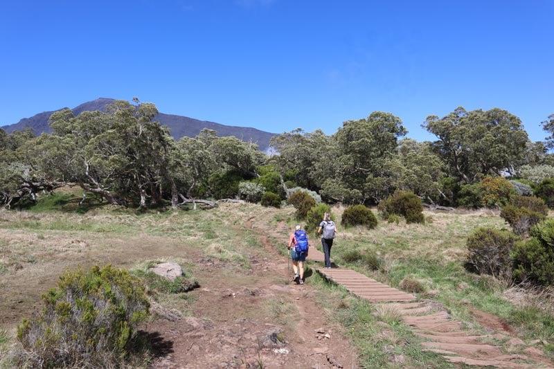Sunny on the hiking trail to la Nouvelle - cirque de Mafate - Reunion Island