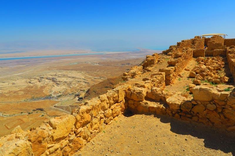 View of Dead Sea from Masada - Israel