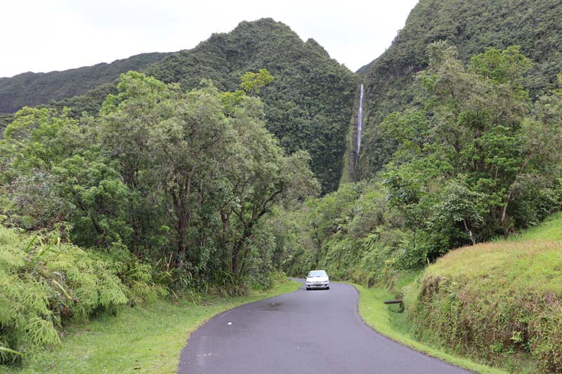 Waterfall on road to Takamaka Lookout - Reunion Island