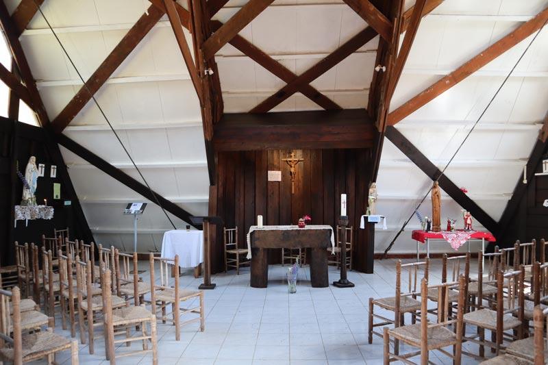 church interior - La Nouvelle - cirque de Mafate - Reunion Island