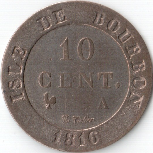 isle de borboun - Reunion Island old coin