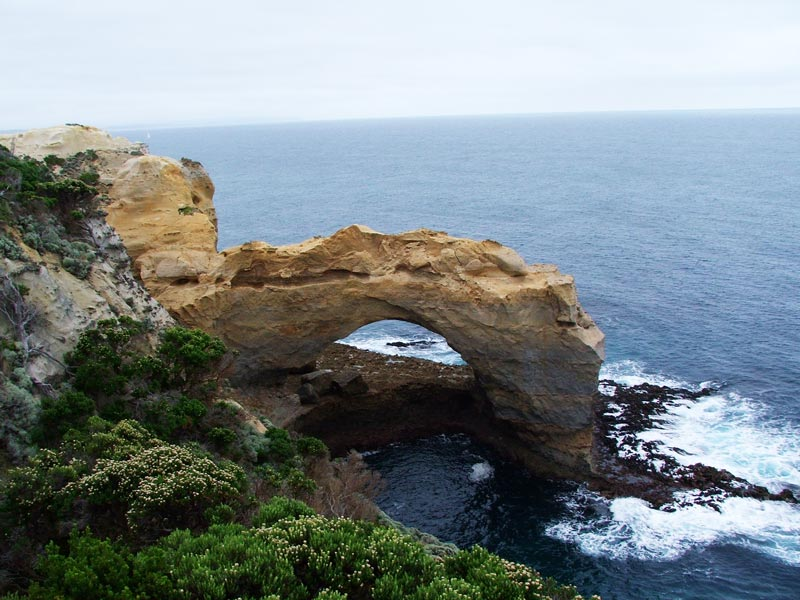 sea arch on great ocean road - australia