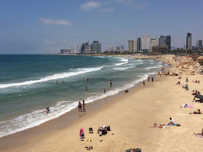 Tel Aviv beach from Jaffa - Israel