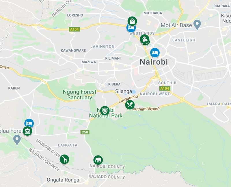 3-Days-In-Kenya-Map