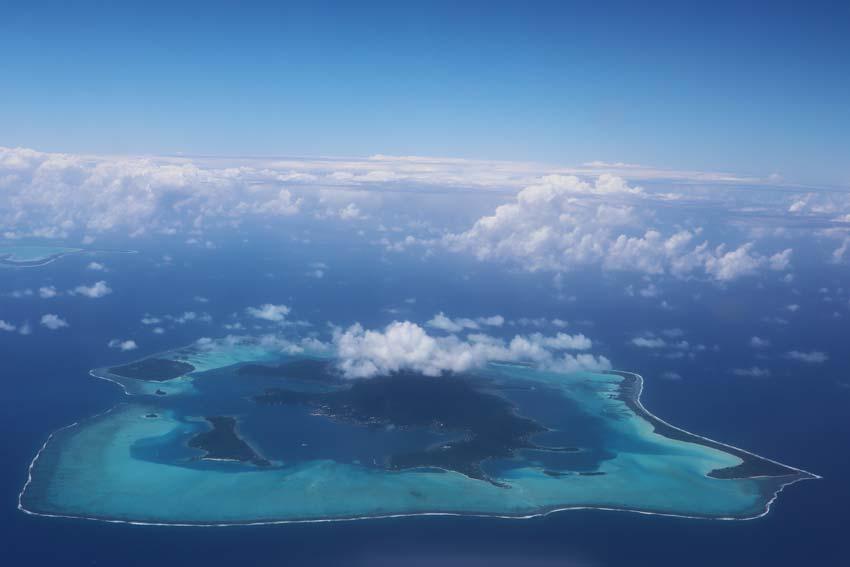 Bora Bora from the air French Polynesia