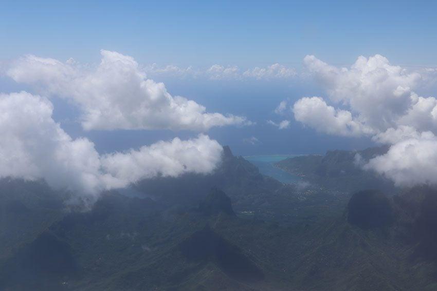Cooks Bay Moorea French Polynesia aerial view