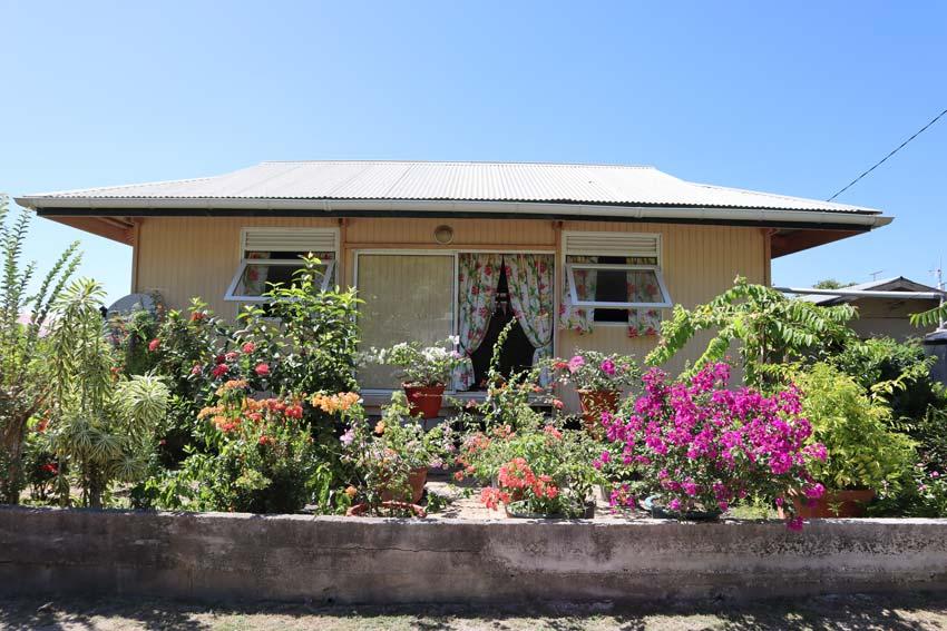 Garden in Maupiti French Polynesia