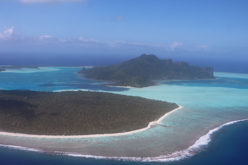 Maupiti French Polynesia aerial view