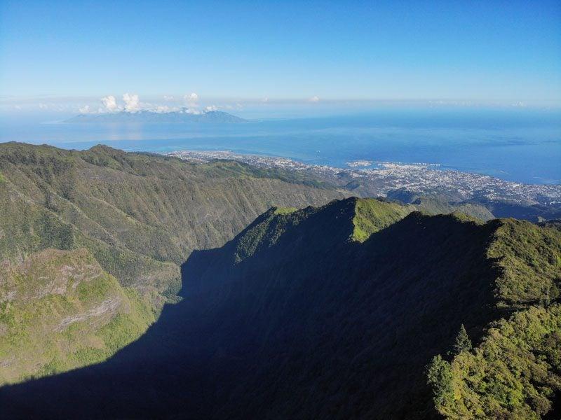 Mount Aorai Hike - Tahiti - French Polynesia - view of Moorea