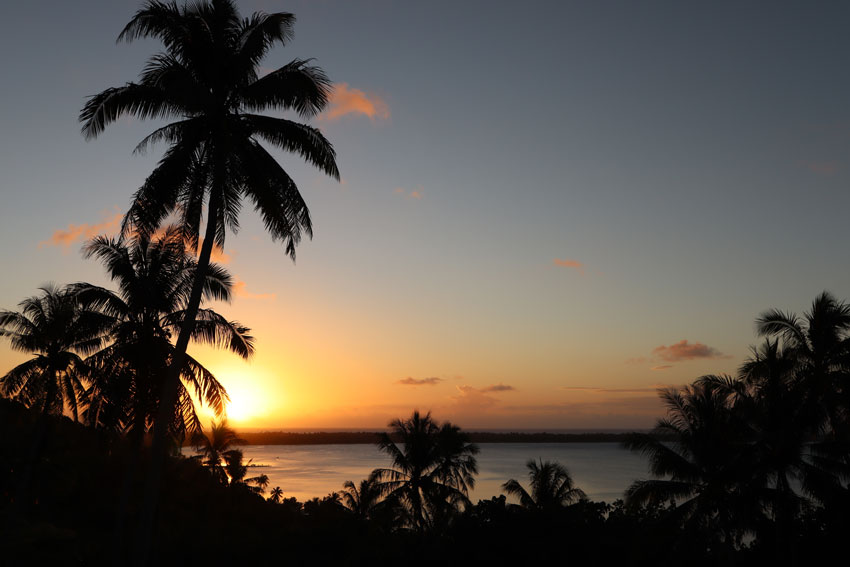 Sunset in Maupiti French Polynesia