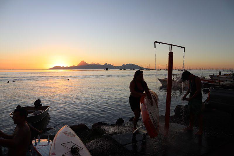 Sunset in Tahiti - French Polynesia