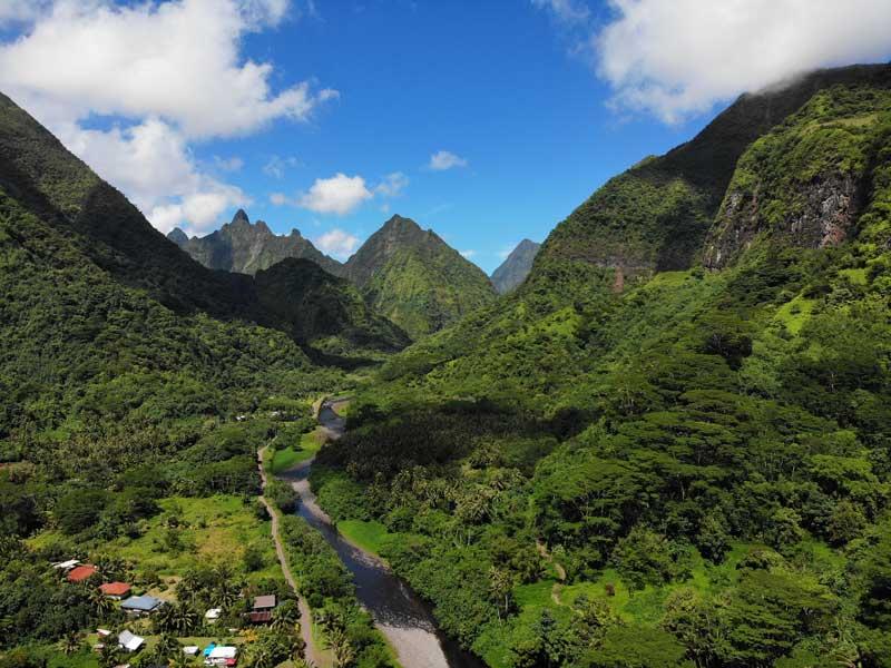 Tautira Valley - Tahiti - French Polyensia