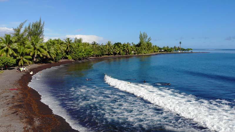 Teahupoo black sand beach - Tahiti French Polyensia