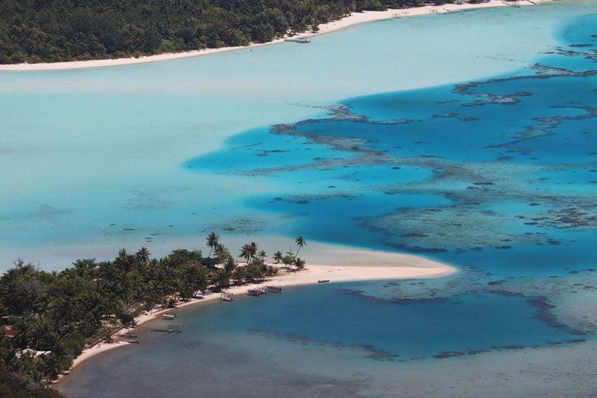 Tereia Beach - Maupiti from Mount Teurafaatiu hike - French Polynesia