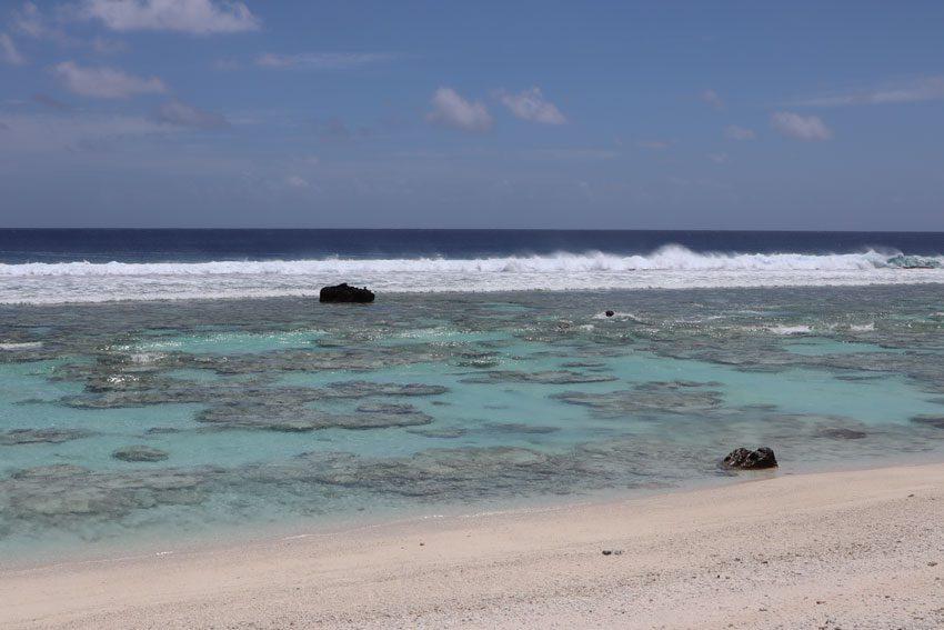 reef close to beach - motu auira - Maupiti - French Polynesia