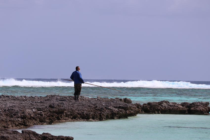 spear fisherman - Maupiti - French Polynesia