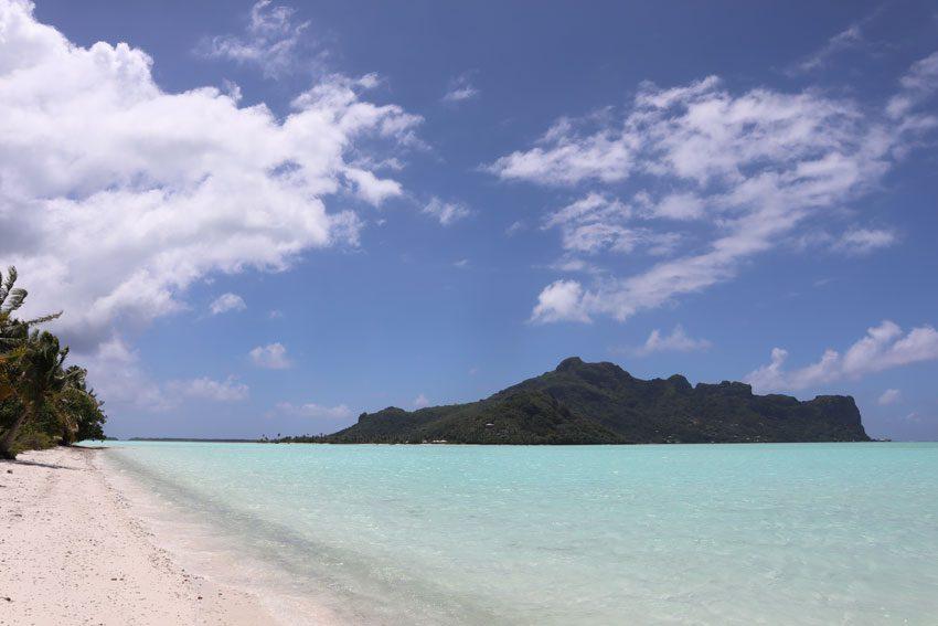 view of Maupiti from motu auira - Maupiti - French Polynesia