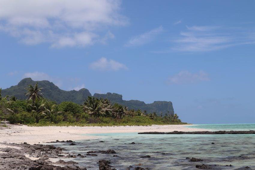 view of Maupiti from white sand beach - motu auira - Maupiti - French Polynesia