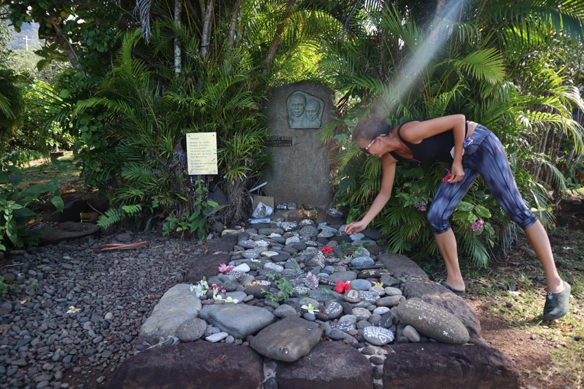 Jacques Brel grave - Hiva Oa - Marquesas Islands - French Polynesia