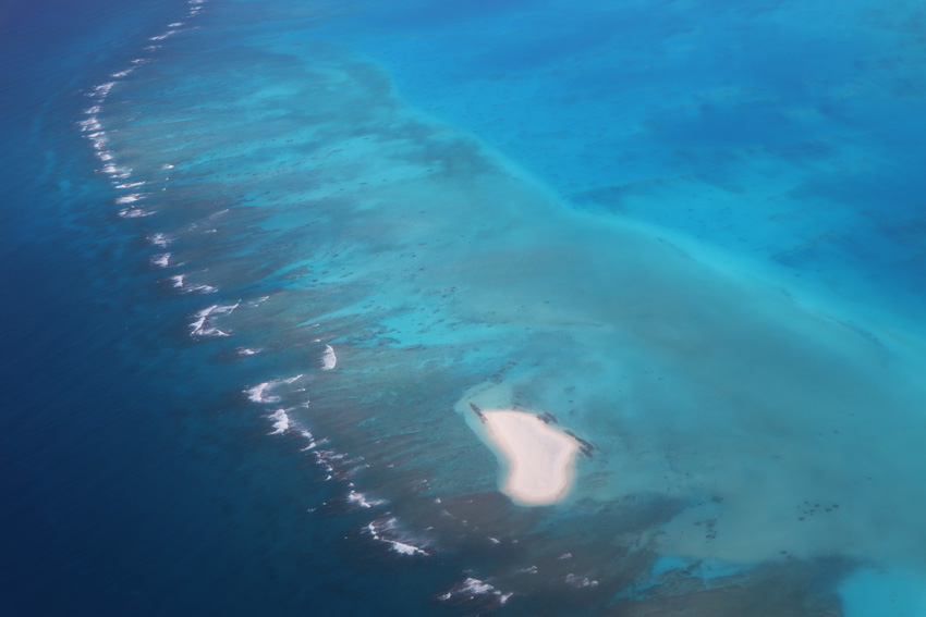 Motu One from the air - tubuai - austral islands - french polynesia