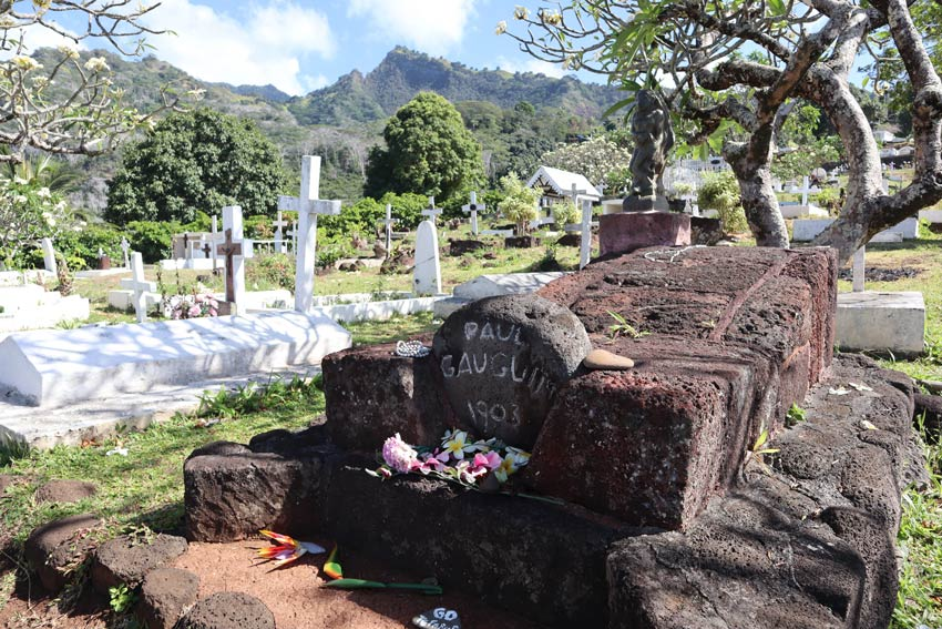 Paul Gauguin grave - Hiva Oa - Marquesas Islands - French Polynesia