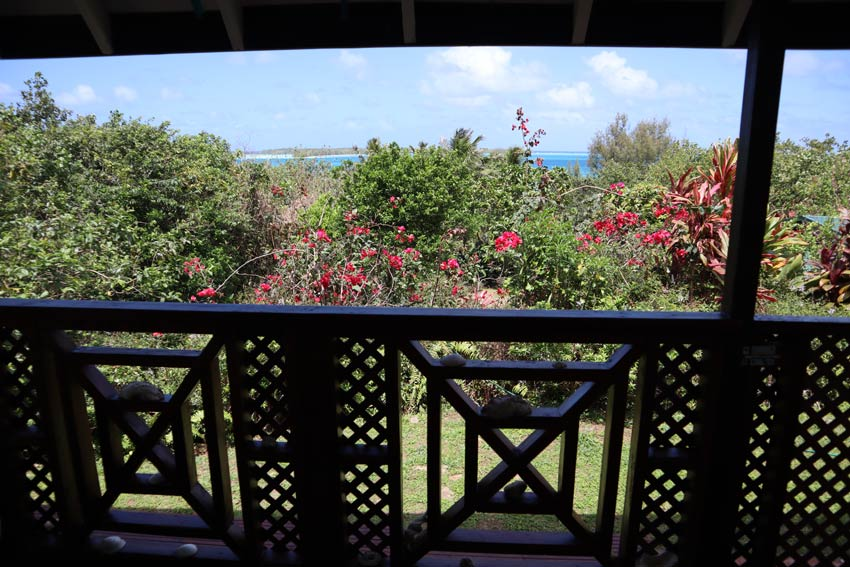 Pension Vaimano - raivavae - austral islands - french polynesia - view from bungalow