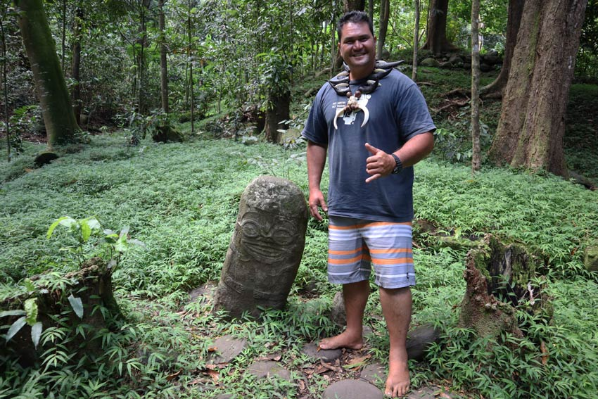 Pifa O'connor - smiling tiki - Hiva Oa - Marquesas Islands - French Polynesia