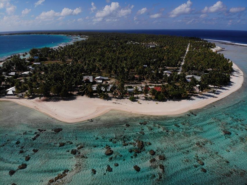 aerial view - tikehau - french polynesia