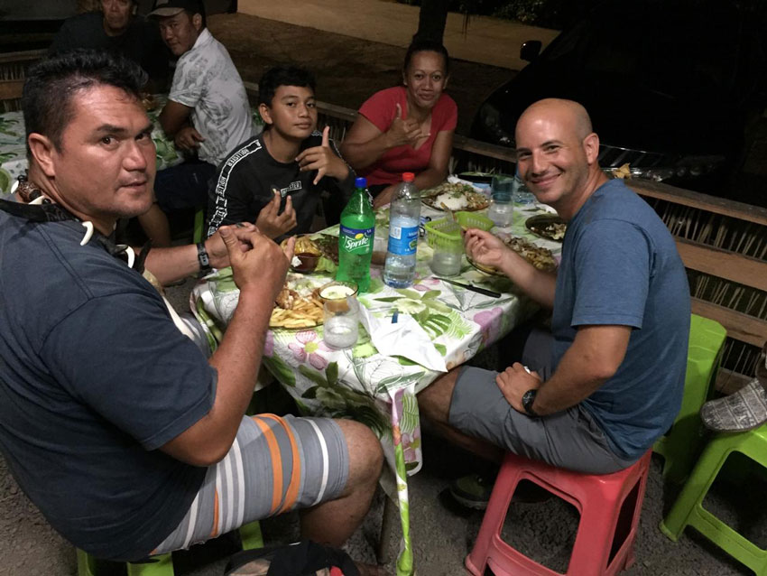 dinner with pifa and family - Hiva Oa - Marquesas Islands - French Polynesia