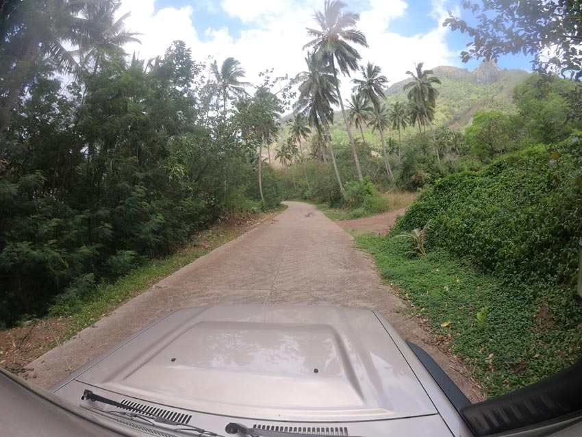 driving in - Hiva Oa - Marquesas Islands - French Polynesia