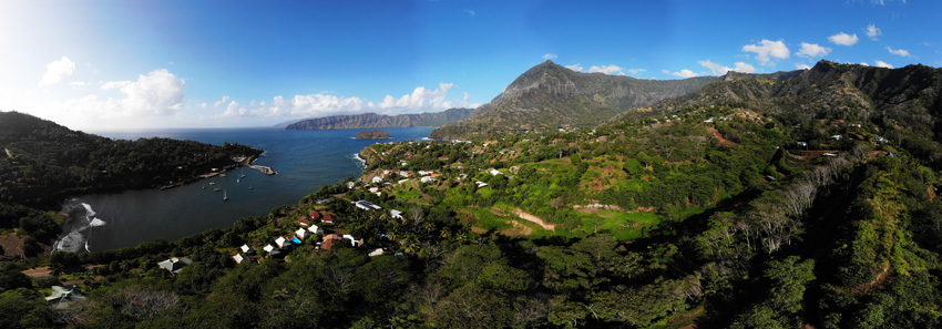 panoramic view - Hiva Oa - Marquesas Islands - French Polynesia