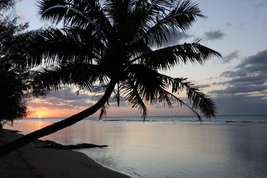 sunset in - tubuai - austral islands - french polynesia