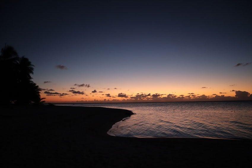 sunset - tikehau - french polynesia