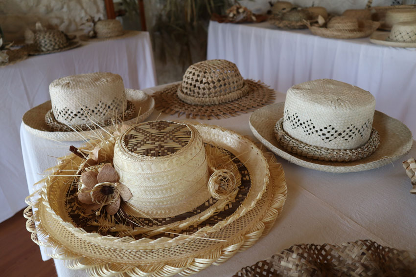 traditional woven hat - rurutu - austral islands - french polynesia