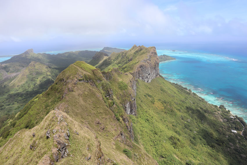 view from summit of mount hiro hike - raivavae - austral islands - french polynesia