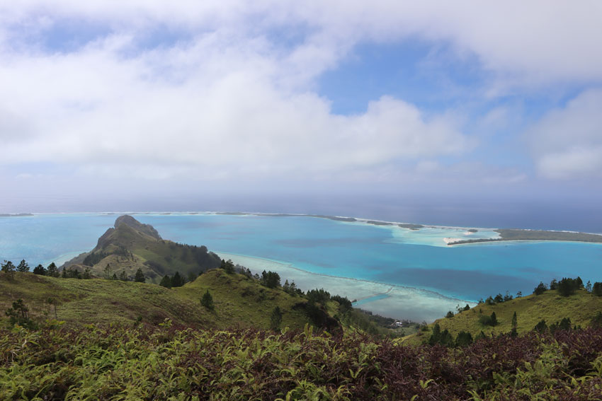 view of motu piscine from mount hiro - raivavae - austral islands - french polynesia