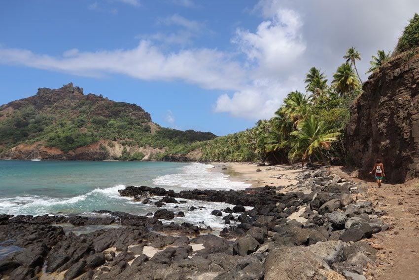 Anaho Bay beach 2 - nuku hiva - marquesas islands - french polynesia